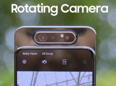 Samsung Galaxy A80 camera shown in video